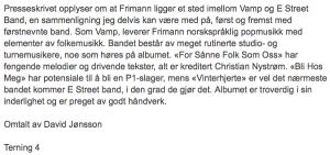 Anmeldelse i Hamar arbeiderblad